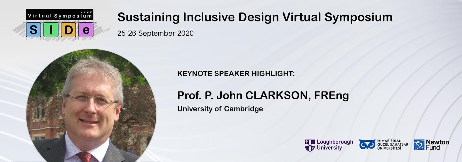 KEYNOTE Konuşma Duyurusu: Prof. P. John CLARKSON